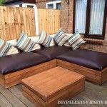 Outside corner sofa for a terrace