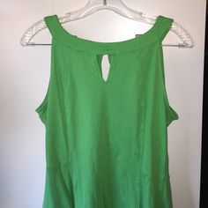 Super Cute & Comfy Green Cotton Dress Cotton dress with cut out of front at neck line. New York & Company Dresses Mini