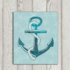 Hey, I found this really awesome Etsy listing at https://www.etsy.com/listing/190162513/anchor-print-beach-art-print-teal