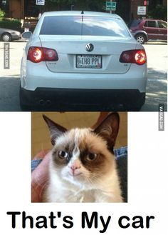 Bahahaha - (okay I admit... I had to look twice to get it... READ THE LICENSE PLATE!!!!   oh my...