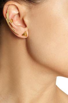 Maria Black|Crescent gold-plated ear cuff|NET-A-PORTER.COM