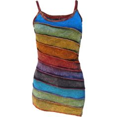 Womens Stonewashed Boho Colorful Summer Rainbow Sidecut Nepalese Strap... ($29) ❤ liked on Polyvore featuring dresses, black, women's clothing, black dress, black cotton dress, boho summer dresses, colorful dresses and black summer dress