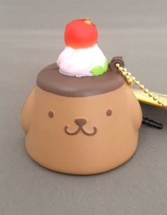 squishy ☆ Pompom pudding (chocolate) punipuni mascot PomPomPudding