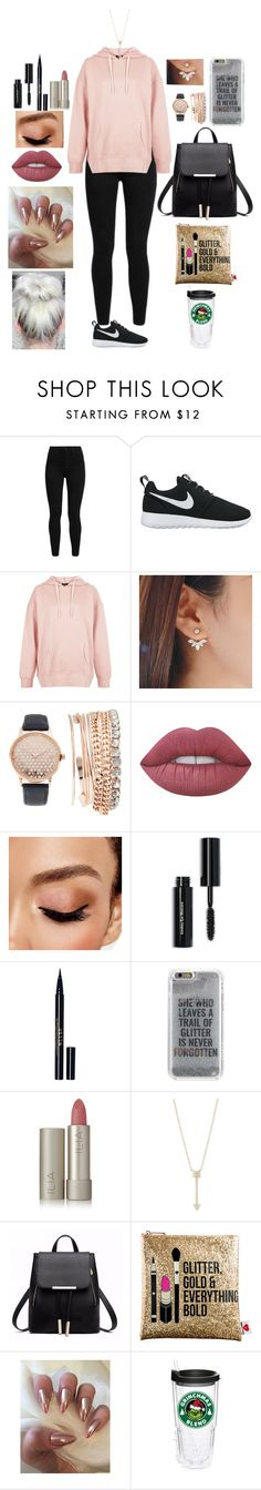 """""""Untitled #559"""" by qwert123456 ❤ liked on Polyvore featuring Levi's, NIKE, New Look, Jessica Carlyle, Lime Crime, Avon, Bobbi Brown Cosmetics, Stila, Agent 18 and Ilia"""