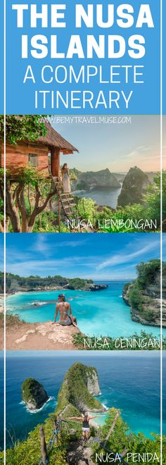 The ultimate guide to your trip in the Nusa Islands, Bali, Indonesia! A full itinerary that will help plan your trip, with all the best spots to see & go, accommodation and transportation tips! Be My Travel Muse   Nusa Lembongan   Nusa Penida   Nusa Ceningan   Blue Lagoon   Devil's Tear   Angel's Bilabong   Dream Beach   Kelingking Viewpoint   Bali travel tips   Indonesia travel tips