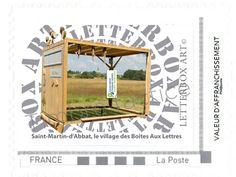 """Timbre LetterboxArt©: Boîte aux lettres """"Varrines"""" à Saint-Martin-d'Abbat."""