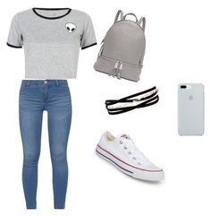 """""""Casual Outfit"""" by favouro on Polyvore featuring WithChic, Dorothy Perkins, Michael Kors, Converse, Kenneth Jay Lane and ETUÍ"""
