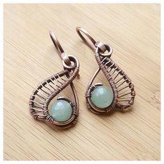 Bohemian jewelry set/aventurine earring/glass by FromRONIKwithLove