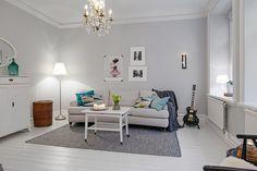 Un precioso apartamento de estilo nórdico con un dormitorio infantil para soñar