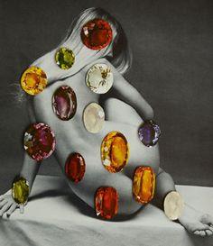 Dennis Busch: Girl, 2013 #gems #collage #nude #contemporaryart  www.kidsofdada.com/products/girl-2014
