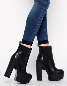 Windsor Smith Grunt Cleated Sole Chunky Boots. these are ridiculous... and I LOVE them!