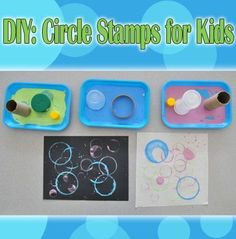 Make your own circle stamps to create beautiful crafts with your kids.