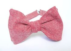 Bow Tie for Men by BartekDesign self tie red coral by BartekDesign, €21.50