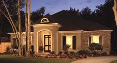 Plan BHG-5030, love exterior but not so crazy about some of the niches and trimwork inside