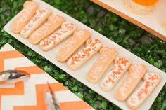 """""""1"""" cookies from Citrus Harvest Birthday Party at Kara's Party Ideas. See more at karaspartyideas.com!"""