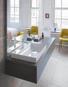DuraSquare Furniture Washbasin By Duravit.