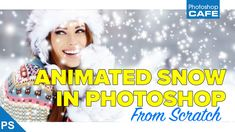 Intermediate Photoshop tutorial, how to make realistic animated falling snow in Photoshop. Create snow overlay for video or for your photos from scratch in Photoshop CC or CS6.