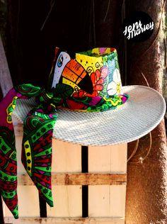 ☀️QUE VIVA EL SOL ☀ sombreros pintados a mano c6f95276dc6