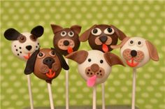 PLAYFUL PUPPIES CAKE POPS | These playful puppies are sure to bring a smile to any face. Make them for your next kids party or event!