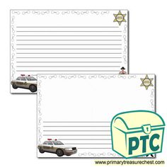 Sheriff's Department Role Play Resources - Primary Treasure Chest Role Play Topics, People Who Help Us, Ourselves Topic, Page Borders, Teaching Activities, Sheriff, Crafts For Kids, Classroom, Writing