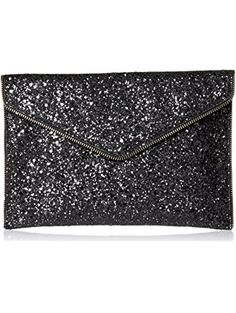 Rebecca Minkoff Glitter Leo Envelope Clutch, Black/Multi, One Size ❤ Rebecca Minkoff Rebecca Minkoff Handbags, Continental Wallet, Gifts For Women, Night Out, Fashion, Moda, La Mode, Fasion, Fashion Models
