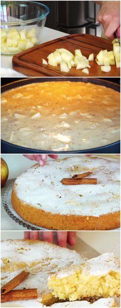 BOLO DE MAÇÃ - de liquidificador ( O MAIS GOSTOSO BOLO DE MAÇÃ DO MUNDO ) #bolodemaca #bolodemacafacil #bolodemacarapido #bolodemacabarato #sobremesademaca #sobremesa #sobremesas #docedemaca #doce #doces Cheesecakes, Blender Recipes, Sweet Pie, Cupcake Cookies, Vanilla Cake, Camembert Cheese, Food And Drink, Low Carb, Apple