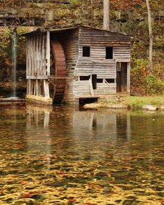 "Missouri Ozarks | ... Photography of Old Mill in Missouri Ozarks - ""Falling Spring Mill II"