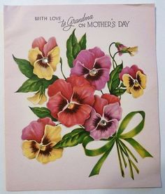 With love to Grandma on Mother's Day. #vintage #Mothers_Days #holidays #cards
