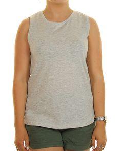 Inseption - Ladies - Ripcurl -Premium Basic Muscle - Grey