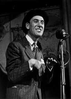 13th November 1943: British Cockney music hall comedian Tommy Trinder. Original Publication: Picture Post - 1577 - Jazz Jamboree In Full Swing - pub. 1943 (Photo by Kurt Hutton/Picture Post/Getty Images)