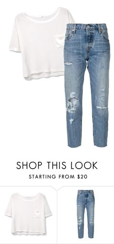 """кд"" by armuzafarova on Polyvore featuring MANGO and Levi's"
