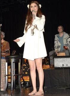 #SelenaGomez #fashion #music Stripped back: Selena Gomez went barefoot as she hosted her third annual Acoustic Charity Concert for UNICEF