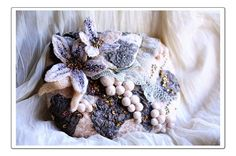 Sand Fantasies // Felted Hand Embroidered Merino by lagoadesigns, $329.00
