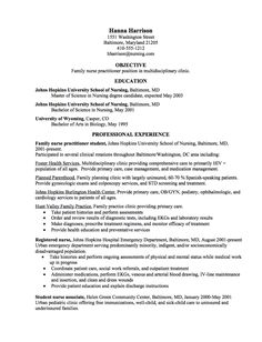 Graduate Nurse Practitioner CV Samples   Http://resumesdesign.com/graduate