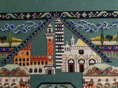 detail Tuscany Town Mandala (helen_orlova) Tags: mandala chatelaine xstitching