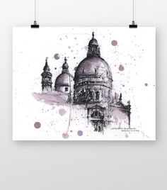 Santa Maria Della Salute by coffeeAFTEReight on Etsy Santa Maria, Painting, Etsy, Painting Art, Paintings, Drawings, Virgin Mary