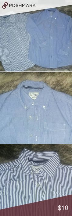 2 Childrens Place button downs Lightly used once or twice no stains or tears size 7/8 Children's Place Shirts & Tops Button Down Shirts
