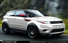 Range Rover Evoque R. I think this car is really stupid, I mean: a suv with coupe-style cockpit and windows??? However, it looks awsome!