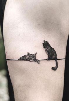 Cute Cat Tattoo, Get A Tattoo, Cat Tattoo Designs, Tattoo People, Future Tattoos, Pretty Cool, Tattoo Inspiration, Small Tattoos, Sleeve Tattoos
