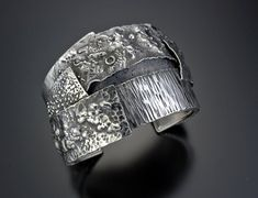Another one I'd like to try with polymer clay. Cuff | Davide Bigazzi.  Sterling silver.
