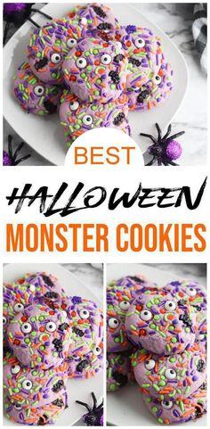 Postres Halloween, Dessert Halloween, Creepy Halloween Decorations, Halloween Cookies, Halloween Fun, Dollar Store Halloween, Halloween Recipe, Halloween Parties, Halloween Nails