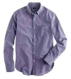 NWT J Crew Men's Slim Secret Wash Shirt End-on-End Cotton Montclair Navy Size XS