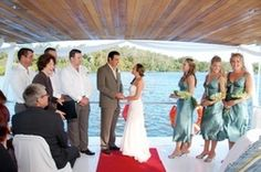 Ferries and boats based on the Noosa River are able to host ceremonies and even wedding receptions on board.