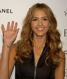 Pin for Later: This Celebrity Ink Might Inspire Your Next Tattoo Jessica Alba The entrepreneur and actress shows off her wrist tat of the Sanskrit word for lotus often, but she has gotten the rest of her tattoos removed.