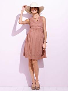 #Robe de #grossesse sans manches, future #maman - Collection Colline printemps été 2014 - www.vertbaudet.fr