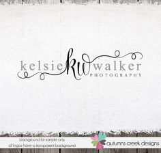 Custom Premade Photography Logo Swirls and by autumnscreek
