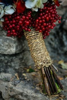 Wedding bouquet with Cranberries