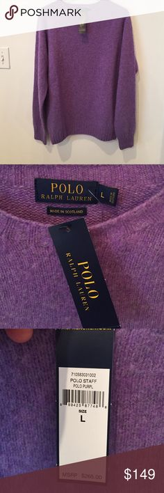 Ralph Lauren Wool/Cashmere Sweater NWT. Beautiful piece. Super soft wool/Cashmere blend sweater. Ralph Lauren Sweaters Crewneck