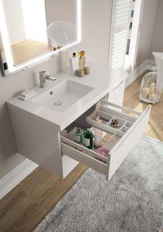 Aménagement tiroir haut salle de bain gamme Feeling - Cedam