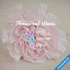 Flowers and Waves - Essential Oil Diffuser Blend #aromatherapy